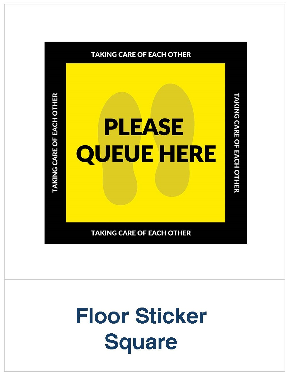 Covid 19 queue floor sticker