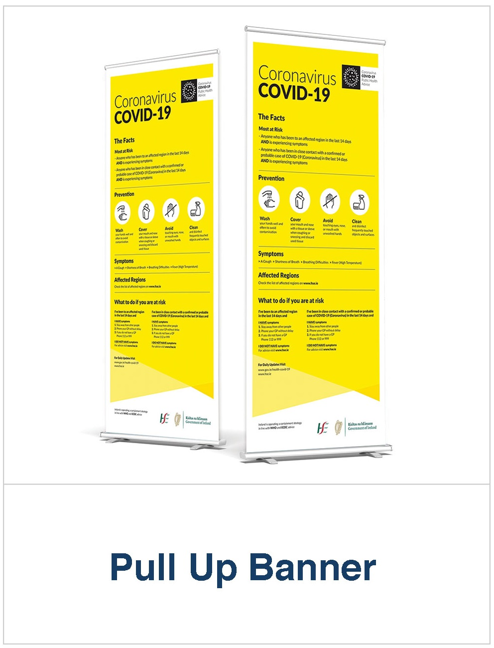 Covid 19 pull up banner printing