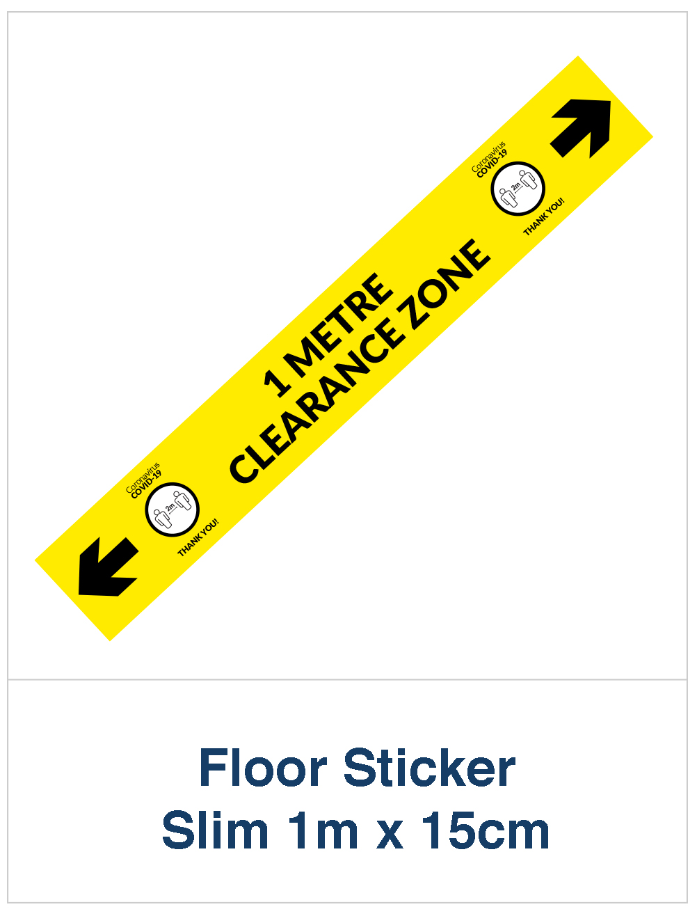 Covid 19 circle floor sticker arrow